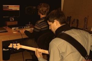 ME AND THE WHITE RABBITS - Bass Recordings For The 1.Studio Album @ Studio Berlin 2014